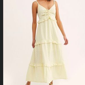 NWOT Free People Pretty Tiered Maxi Dress